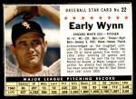 1961 Post #22 BOX Early Wynn   Front Thumbnail
