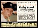 1961 Post #37 BOX Charlie Maxwell   Front Thumbnail