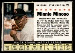 1961 Post #25 BOX Minnie Minoso   Front Thumbnail