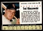 1961 Post #31  Ted Kluszewski   Front Thumbnail