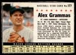 1961 Post #177 BOX Alex Grammas   Front Thumbnail