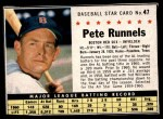 1961 Post #47 BOX Pete Runnels   Front Thumbnail