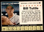 1961 Post #84 BOX Bill Tuttle   Front Thumbnail