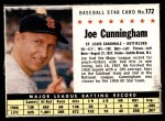 1961 Post #172 BOX Joe Cunningham   Front Thumbnail