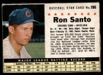 1961 Post #196 BOX Ron Santo   Front Thumbnail
