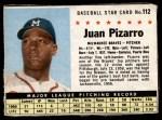 1961 Post #112  Juan Pizarro   Front Thumbnail