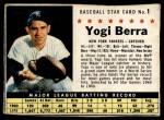 1961 Post #1 BOX Yogi Berra   Front Thumbnail