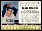 1961 Post #42 BOX Don Mossi   Front Thumbnail