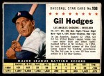 1961 Post #168 BOX Gil Hodges   Front Thumbnail