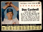 1961 Post #194 BOX Don Cardwell   Front Thumbnail