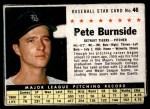 1961 Post #46  Pete Burnside   Front Thumbnail