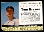 1961 Post #50 BOX Tom Brewer   Front Thumbnail