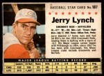 1961 Post #187 BOX Jerry Lynch   Front Thumbnail