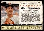 1961 Post #177 BOX Alex Grammas   Front Thumbnail