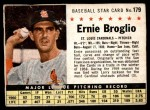 1961 Post #179 BOX Ernie Broglio   Front Thumbnail