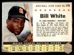 1961 Post #176 BOX Bill White   Front Thumbnail