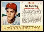 1963 Post #183  Art Mahaffey  Front Thumbnail