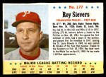 1963 Post #177  Roy Sievers  Front Thumbnail