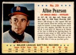 1963 Post #29  Albie Pearson  Front Thumbnail