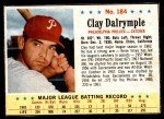 1963 Post #184  Clay Dalrymple  Front Thumbnail