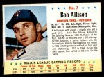 1963 Post #7  Bob Allison  Front Thumbnail