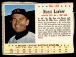 1963 Post #188  Norm Larker  Front Thumbnail