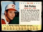 1963 Post #134  Bob Purkey  Front Thumbnail