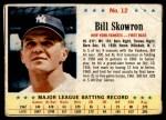 1963 Post #12  Bill Skowron  Front Thumbnail