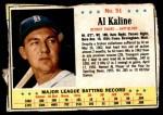 1963 Post #51  Al Kaline  Front Thumbnail