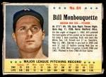 1963 Post #84  Bill Monbouquette  Front Thumbnail