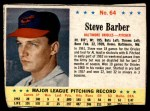 1963 Post #64  Steve Barber  Front Thumbnail