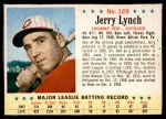 1963 Post #129  Jerry Lynch  Front Thumbnail