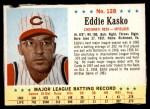 1963 Post #128  Eddie Kasko  Front Thumbnail
