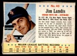 1963 Post #40  Jim Landis  Front Thumbnail
