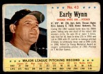 1963 Post #43  Early Wynn  Front Thumbnail