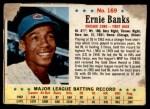 1963 Post #169  Ernie Banks  Front Thumbnail