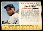 1963 Post #114  Jim Gilliam  Front Thumbnail