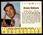 1963 Jello #59  Brooks Robinson  Front Thumbnail