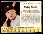 1963 Jello #15  Mickey Mantle  Front Thumbnail