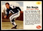 1962 Post #143  Dick Moegle  Front Thumbnail