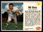1962 Post #49  Bill Glass  Front Thumbnail