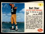 1962 Post #12  Bart Starr  Front Thumbnail