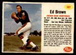 1962 Post #107  Ed Brown  Front Thumbnail
