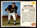 1962 Post #169  Jack Pardee  Front Thumbnail