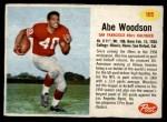 1962 Post #105  Abe Woodson  Front Thumbnail
