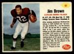 1962 Post #61  Jim Brown  Front Thumbnail