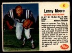 1962 Post #82  Lenny Moore  Front Thumbnail