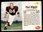 1962 Post #75  Paul Wiggin  Front Thumbnail