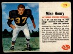 1962 Post #124  Mike Henry  Front Thumbnail