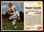 1962 Post #46  Howard Cassady  Front Thumbnail